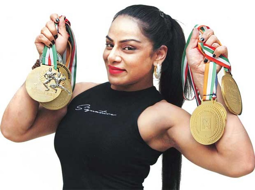 Shweta Rathore bodybuilder.